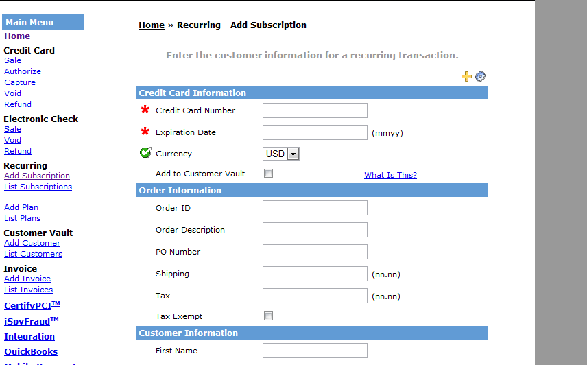 Recurring Bill System Recurring Billing Software And Invoicing - Quickbooks recurring invoice